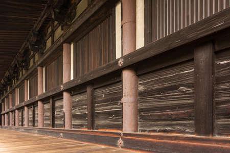 corridors: corridors of Sanjusangendo in Kyoto, Japan
