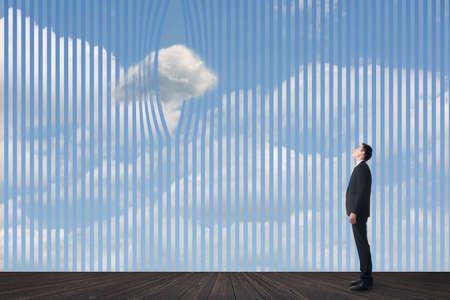 Concept of clouds, escape, idea, aspiration, wish etc. photo