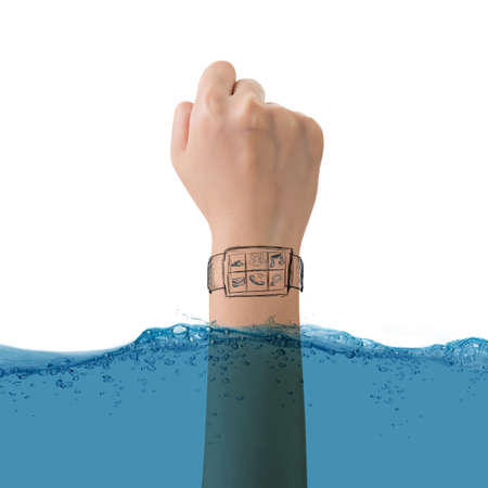 Smart watch concept of waterproof, growth, new, come out etc.