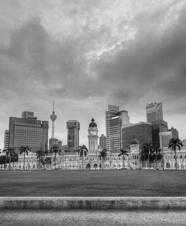 kuala lumpur city: Malaysia city skyline with famous buildings, towers and skyscraper in Kuala Lumpur, Asia.
