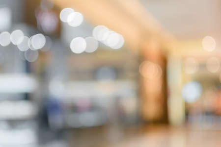 shallow focus: Abstract background of shopping mall, shallow depth of focus. Stock Photo