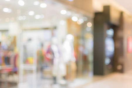 ショッピング モール、フォーカスの浅い深さの抽象的な背景。
