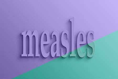 measles: 3D text with shadow and reflection, measles.