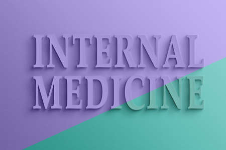specialty: 3D text with shadow and reflection,  internal medicine.