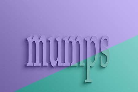 mumps: 3D text with shadow and reflection,  mumps.