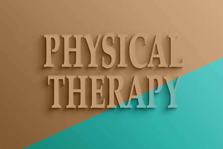 massage symbol: 3D text on the wall, physical therapy