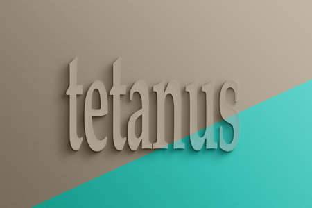 tetanus: 3D text on the wall, tetanus