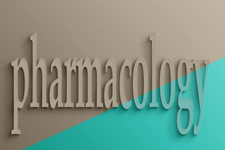 pharmacology: 3D text on the wall, pharmacology
