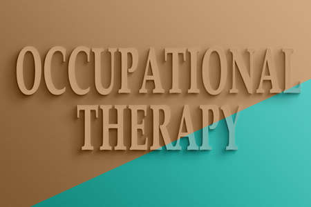3D text on the wall, occupational therapy Stock Photo