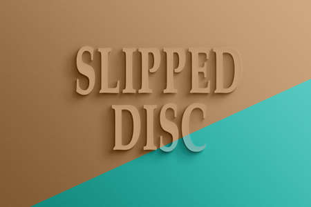 slipped: 3D text on the wall, slipped disc