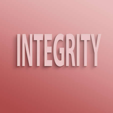 text on the wall or paper, integrity