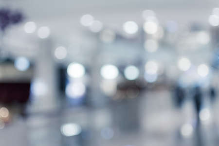 business center: Abstract background of shopping mall, shallow depth of focus. Stock Photo