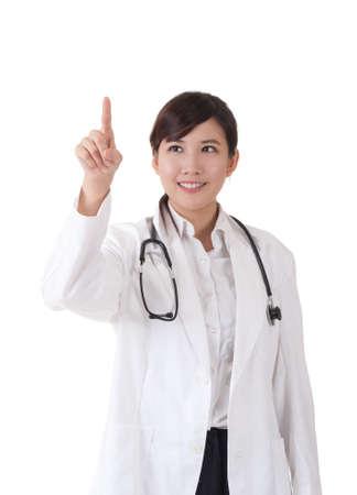 press button: asian doctor press button
