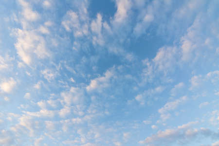 blue cloudy sky: dramatic cloud over the sky with copyspace Stock Photo