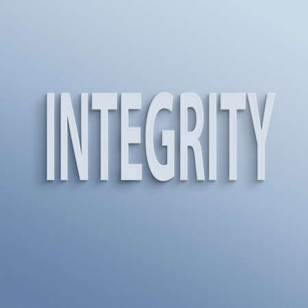 integrity: text on the wall or paper, integrity