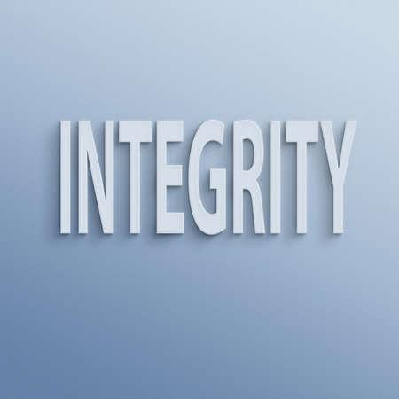 integridad: texto en la pared o papel, la integridad Foto de archivo