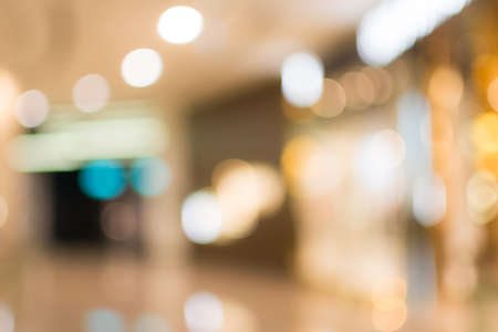 outlet store: Abstract background of shopping mall, shallow depth of focus. Stock Photo