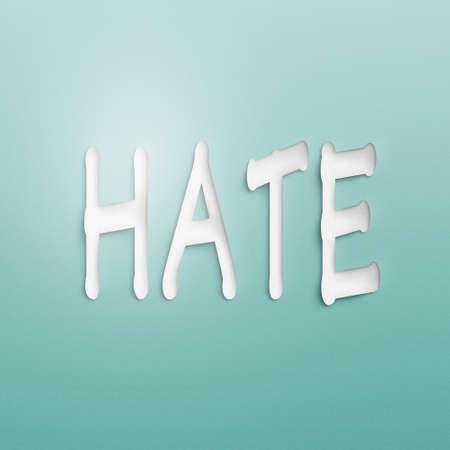 desprecio: texto en la pared o papel, el odio Foto de archivo