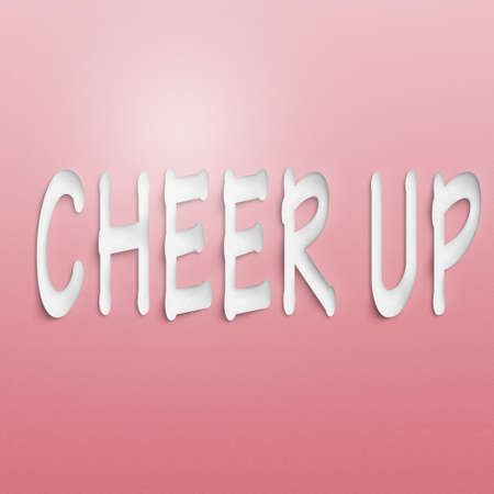 arouse: text on the wall or paper, cheer up