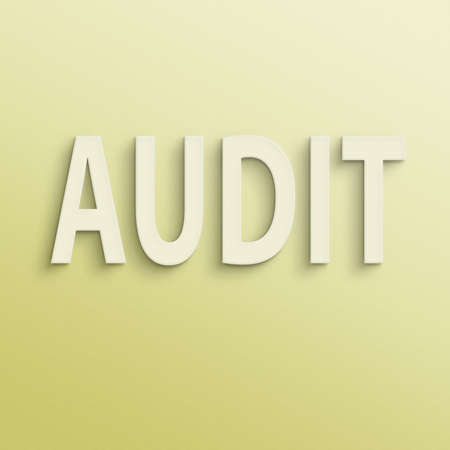 validity: text on the wall or paper, audit Stock Photo