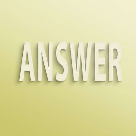 correspond: text on the wall or paper, answer Stock Photo