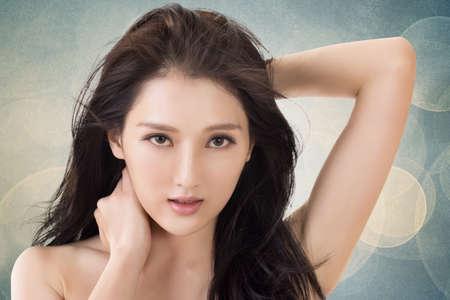 krása: Asijských krása ženy Reklamní fotografie