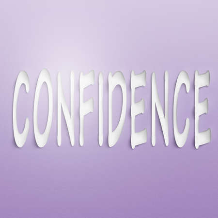 self assurance: text on the wall or paper, confidence