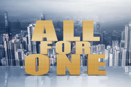for: All for one, concept of team, together, group.