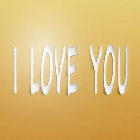 adore: text on the wall or paper, i love you