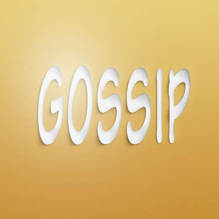 chitchat: text on the wall or paper, gossip