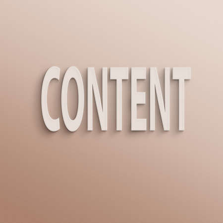 keywords link: text on the wall or paper, content