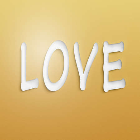 wall paper: text on the wall or paper, love Stock Photo