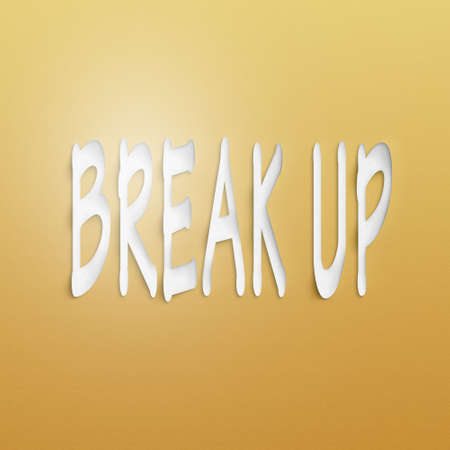 dissolution: text on the wall or paper, break up