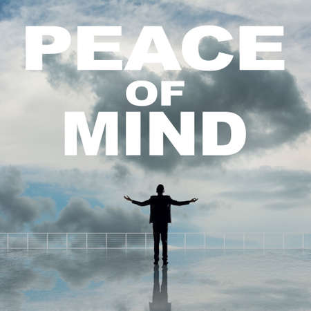 sense of security: Peace of Mind, message on the sky.
