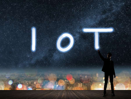 Concept of IOT, internet of things. Imagens