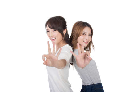 a ok: Asian woman give you an Okay sign.