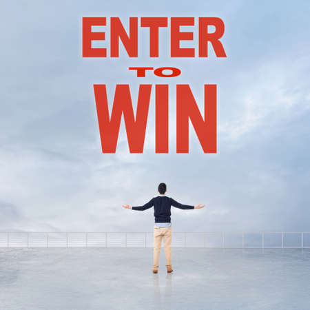 contestant: Enter to Win, message on the sky.