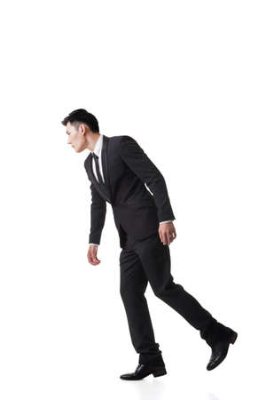 dupe: Marionette pose, asian business man isolated Stock Photo