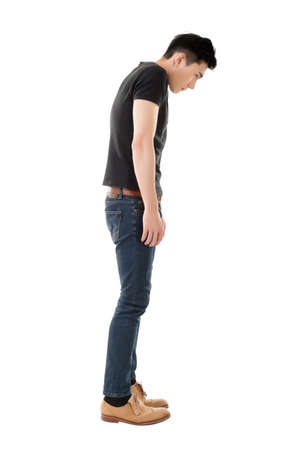 full length: model of asian young man, full length portrait isolated Stock Photo