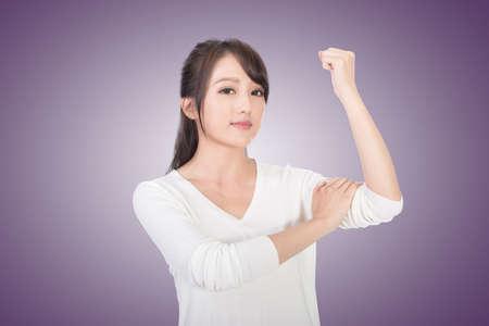 strong women: Asian woman portrait, concept of strong, power, confident etc.