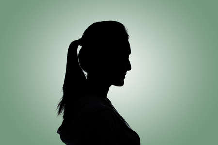 human head: Silhouette woman portrait, concept of unknown, anonymous, unnamed etc.