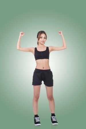 power concept: Asian woman portrait, concept of strong, power, confident etc.