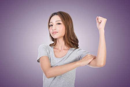 strong woman: Asian woman portrait, concept of strong, power, confident etc.