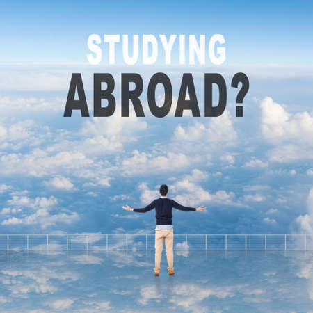 guidance: Studying Abroad? Text on the sky.