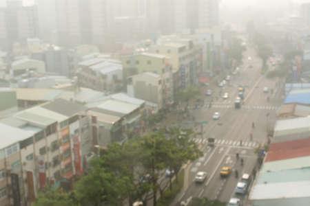 contaminacion aire: fondo de la contaminación del aire con el paisaje de la ciudad abstracta