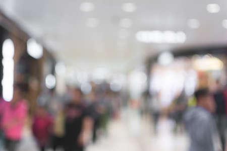 tiefe: Abstrakter Hintergrund der Shopping-Mall, flache Schärfentiefe.