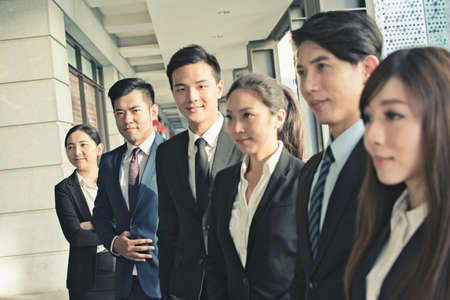 japanese people: Successful business team of Asian in the city. Stock Photo