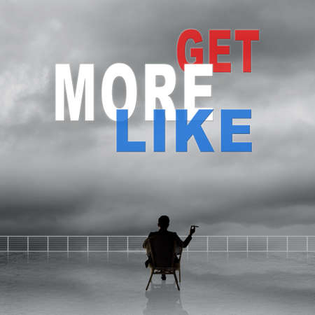 free me: Get More Likes, message on the sky.