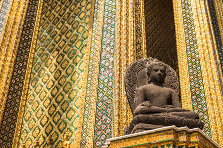 thailand culture: statues at Garuda Wat Phra Kaew, famous temple at Bangkok Thailand Editorial