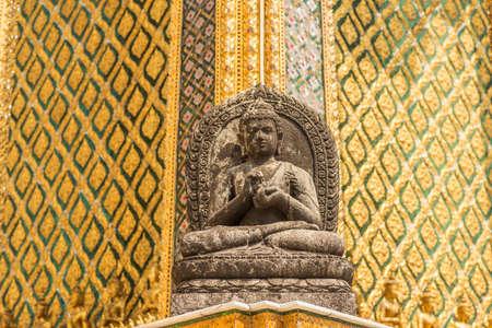 majestic: statues at Garuda Wat Phra Kaew, famous temple at Bangkok Thailand Stock Photo